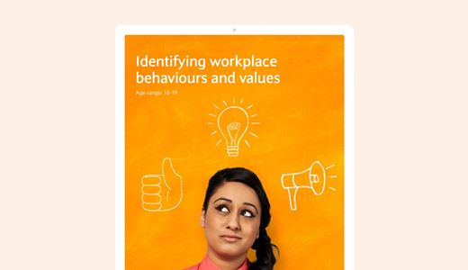 Identifying workplace behaviours and values lesson