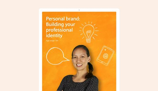 Personal brand: Building your professional identity lesson