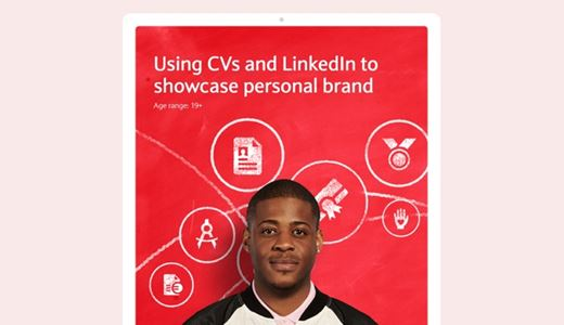 Using CVs and LinkedIn to showcase personal brand lesson